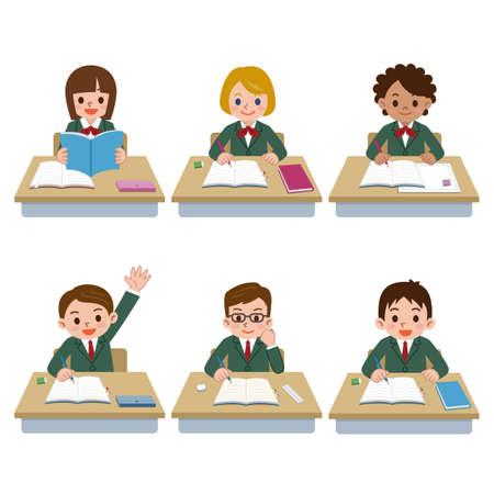 middle class: Ilustración de Estudiantes