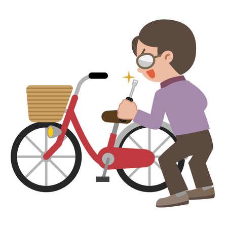 Illustration of Bicycle thief Illustration