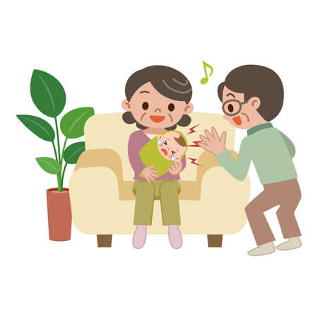 babysit: Elderly couple to baby-sit