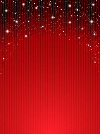 星の劇場に赤いカーテン 写真素材 - 66674307