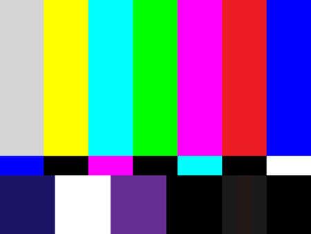 Television test pattern of stripes Illustration