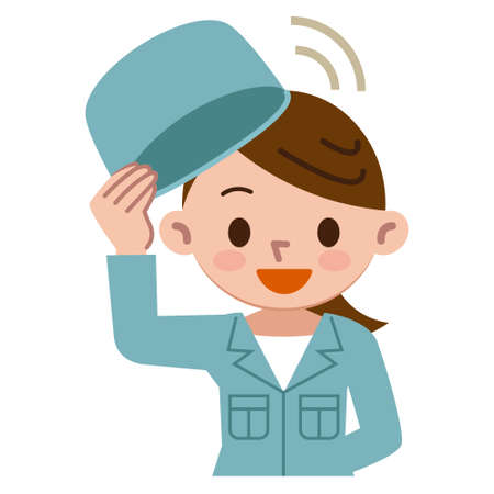 laborer: Working woman taking a hat Illustration