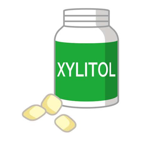 bubble gum: Illustration of Xylitol gum