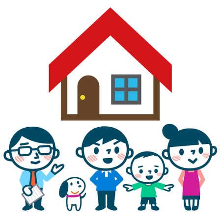 Familie denken over het kopen van een huis