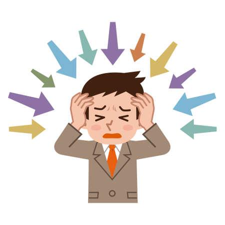 Young businessman under stress
