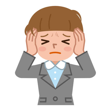 annoy: Young woman with a headache