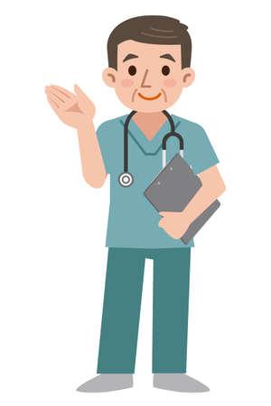Doctor wearing scrub