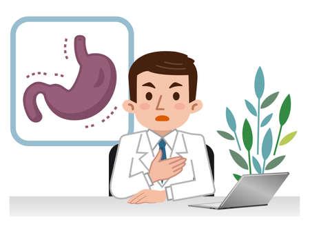 bariatric: Doctor explaining the weak stomach