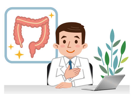 Illustration of large intestine