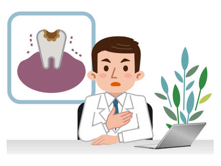 Doctor explaining tooth decay