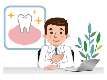 Docteur expliquant les dents