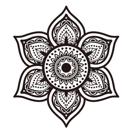 花曼荼羅。ヴィンテージの装飾的な要素。