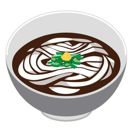 Illustration of Udon noodle.