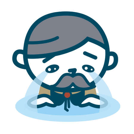 Senior men shedding tears