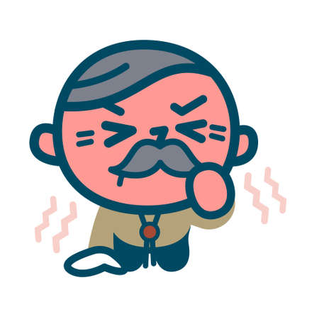 Senior men who tolerate anger