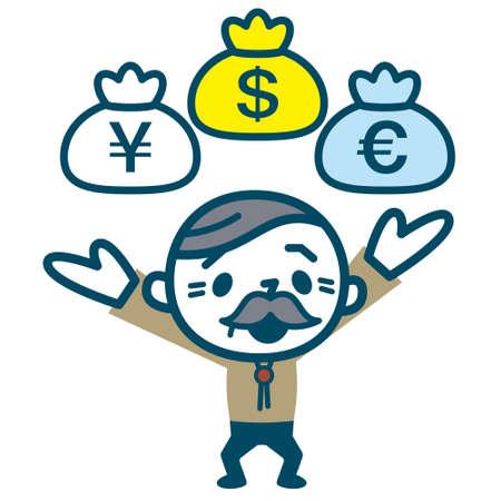 裕福な投資家の年長の男性