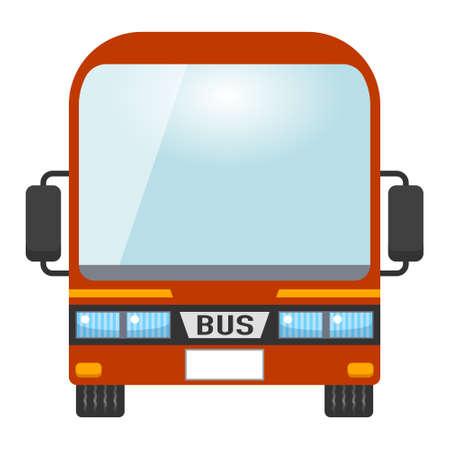 赤バスのイラスト。