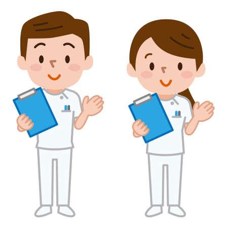 Medical staff illustration