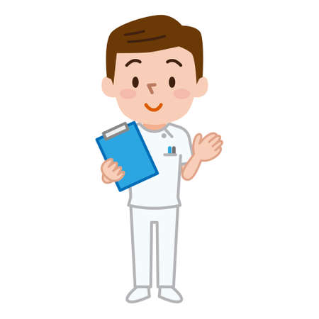 Male medical staff illustration