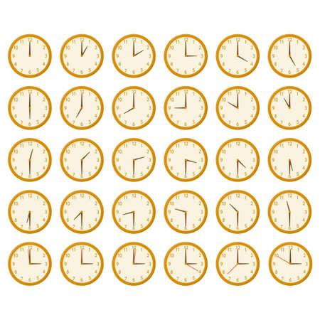 ilustraciones lindas del reloj Ilustración de vector
