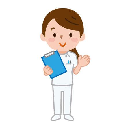 Illustratie van een jonge verpleegster