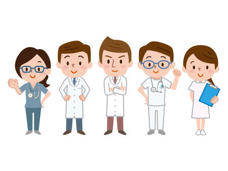 Illustration of medical team Vectores