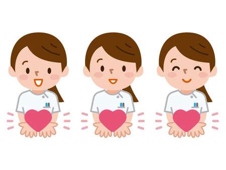 Krankenschwester und Herz