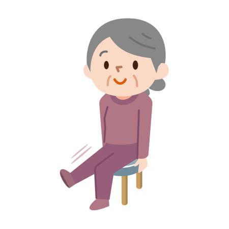 Senior women who rehabilitate concept illustration  イラスト・ベクター素材