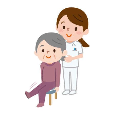 Senior women who rehabilitate