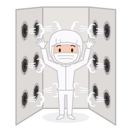 cuarto de ducha de aire Ilustración de vector