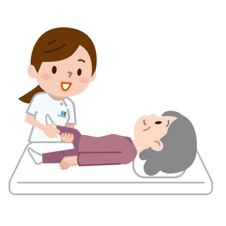 Ilustracja masażu rehabilitacyjnego