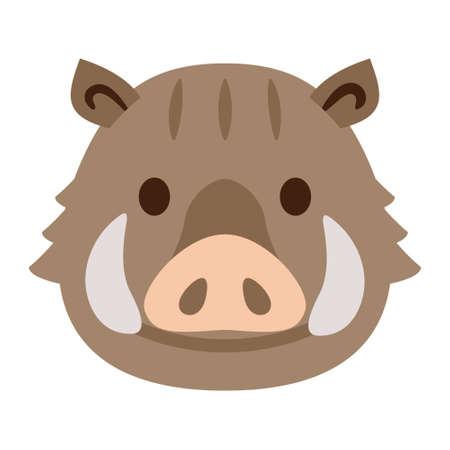 Illustration of cute wild boar