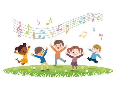 Child Singing Stock Illustrations, Cliparts And Royalty Free Child ...