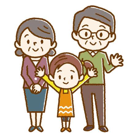 abuelo y abuela y hija