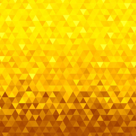 Abstract seamless gold background from gold triangles Illustration