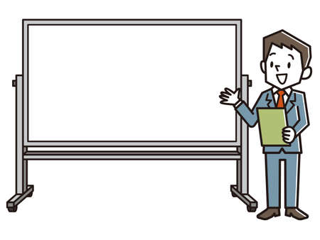 Office Worker Giving a Presentation.  イラスト・ベクター素材