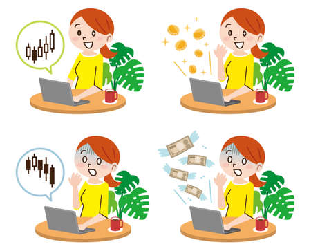 young woman,technology and money concept