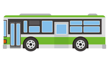 Illustration of route bus Imagens - 115476576