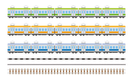 electric train car simple illustration Çizim