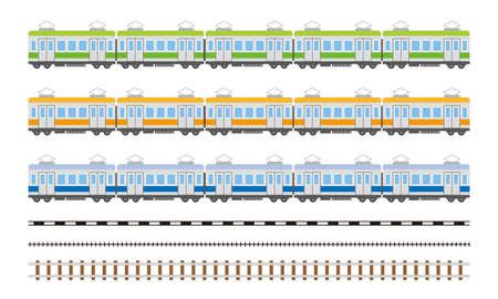 electric train car simple illustration Illustration