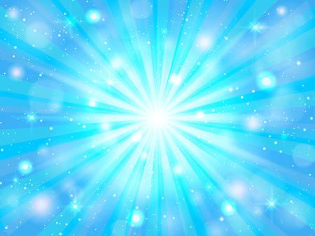 Blue shine rays burst