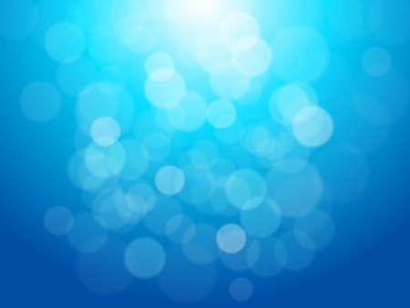 Luces sobre fondo azul