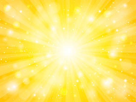 sun vector with lens flare yellow abstract background Illustration