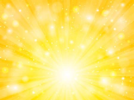 vecteur de soleil avec fond abstrait jaune lens flare
