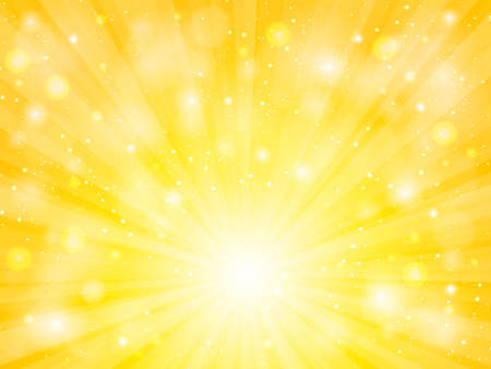 vettore di sole con sfondo astratto giallo riflesso lente