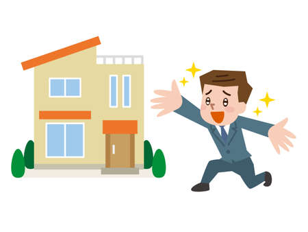 Salesman Broker House Illustration