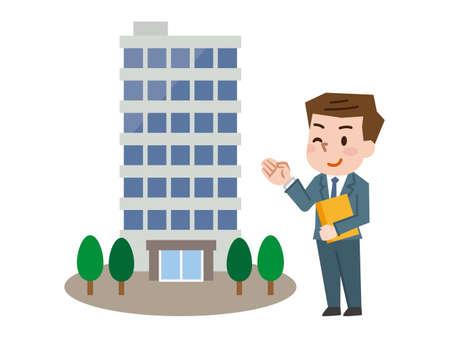 Salesman Broker apartment house Illustration