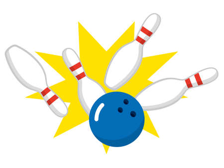 Skittles and Bowling Ball on Transparent Background