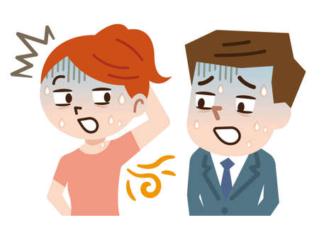 Bad smell and body odor Illustration