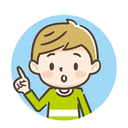 Illustration of smiling cute boy Stock Illustratie